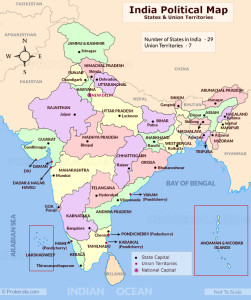 The Political Map Of India A Brief Overview