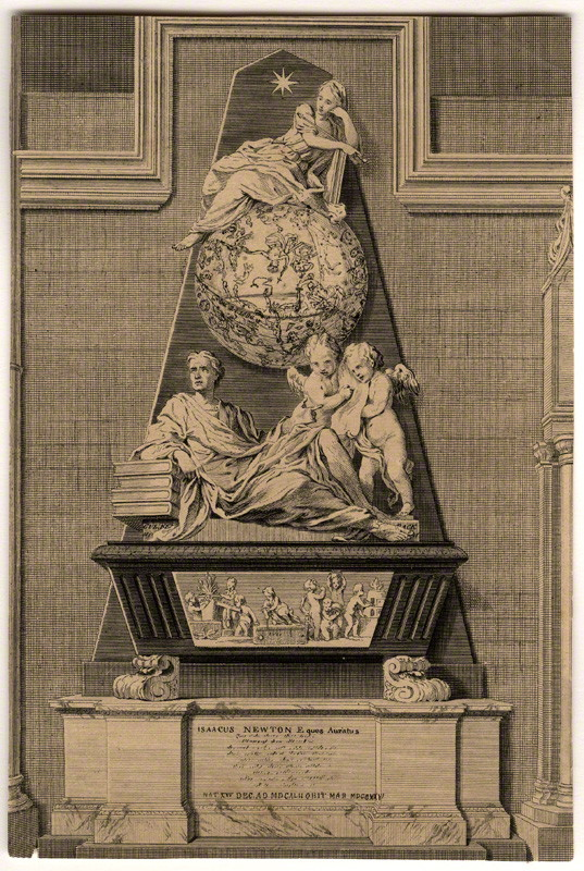 Newton's Monument -Courtesy National Portrait Gallery, London