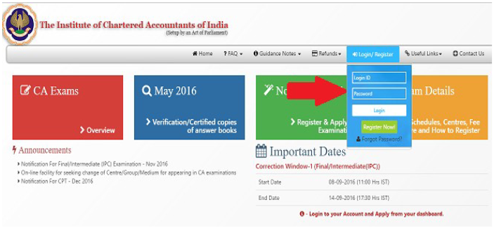 CA Foundation Admit Card