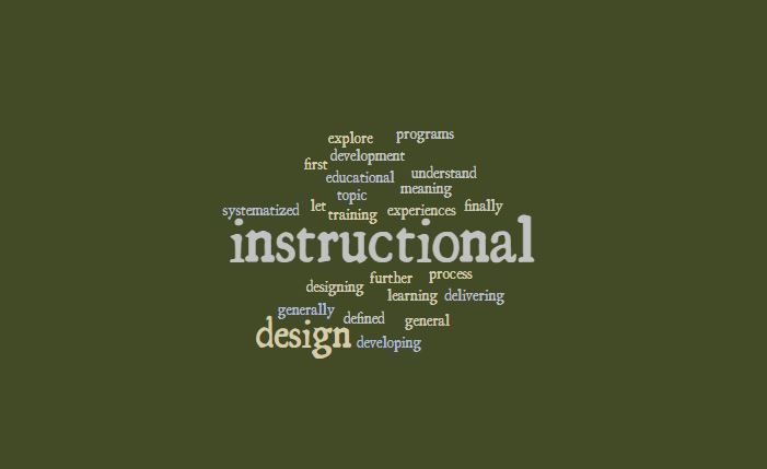 Instructional Design In Education Process Of Instruction Design